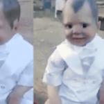 ブラジルの墓地に現れた謎の悪魔の人形…哺乳瓶の中には赤い液体が…