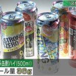 ストロング系缶酎ハイのアルコール量…衝撃的だと話題に…