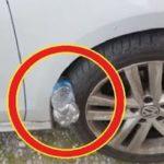車のタイヤにペットボトルが挟まっている意味…身近で起こり得る車の盗難が恐ろしい…