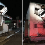 歯医者の2階に突っ込んだ車…監視カメラに驚愕の瞬間が残されていた…