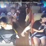 バスの横転事故の決定的瞬間…車内カメラ映像が捉えた決定的瞬間が怖いと話題に…